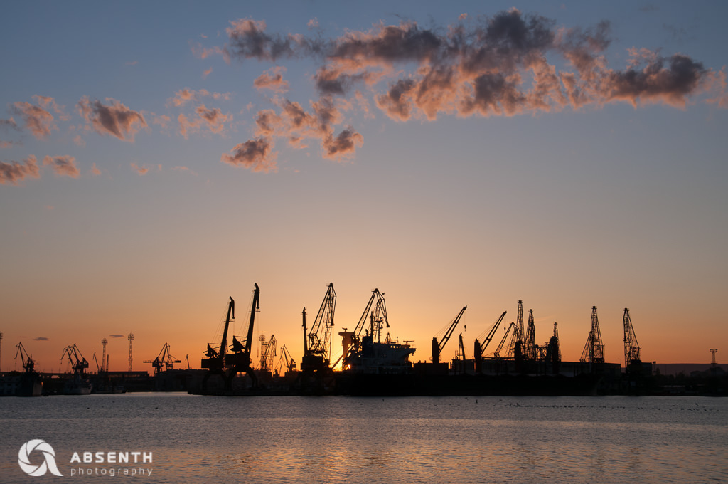 Sun Sets Behind The Docks